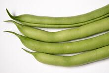 Four Green Beans Freshly Picke...