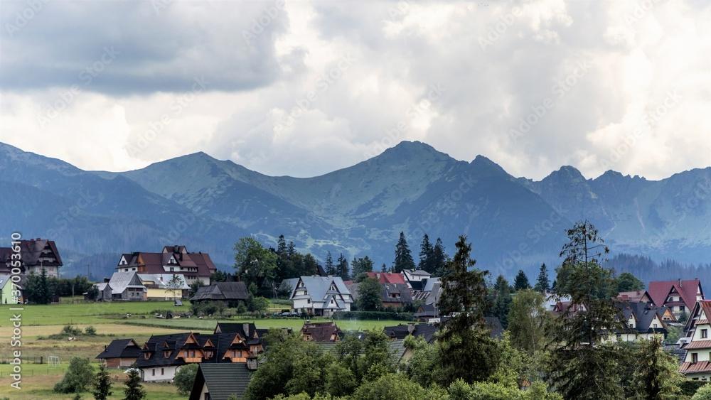Fototapeta piękny widok na polskie góry i polany górskie