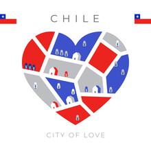 National Flag With Heart Shaped Landscape : Vector Illustration