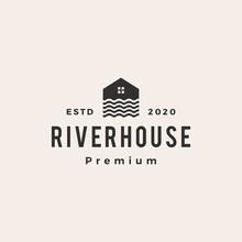 River House Hipster Vintage Logo Vector Icon Illustration