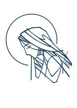 Virgin Mary Portrait Illustration