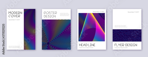 Obraz na plátně Minimal brochure design template set. Rainbow abst