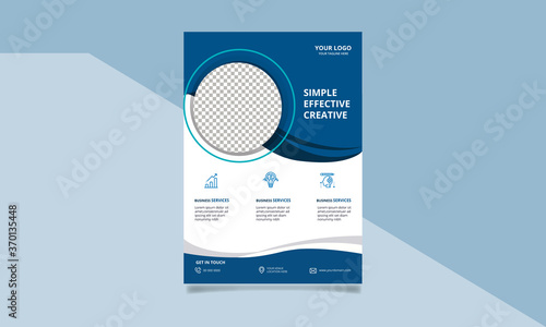 Fototapeta corporate business flyer template design obraz