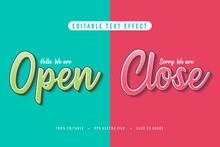 Decorative Open And Close Sign...