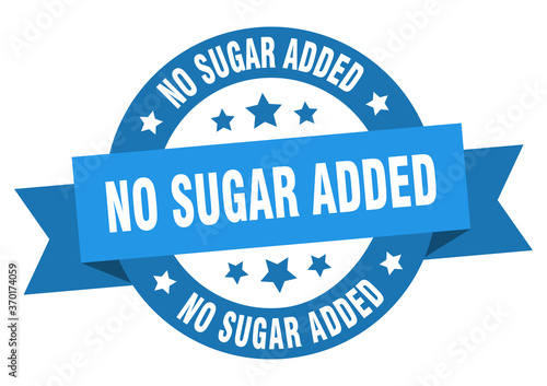 Papel de parede no sugar added round ribbon isolated label. no sugar added sign