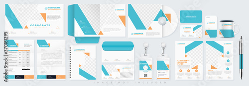 Corporate identity set branding template design kit Fototapet