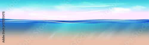 Fotomural Ocean landscape Realistic underwater background