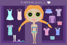 Dress Up Paper Doll With Body ...