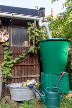 Eco Friendly Garden With Rain Water Recycling System