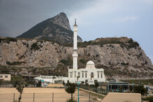 The Rock Of Gibraltar As Seen From Europa Point Including A Mosque, Gibraltar, UK