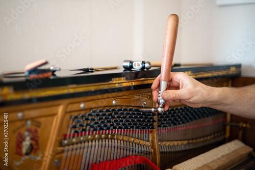 Tableau sur Toile Technician, tuning a piano
