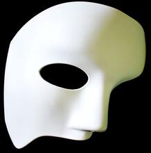 White Mask Isolated On White