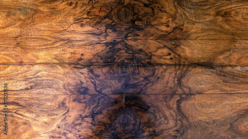Fotografering wooden background, table top inlaid with wood