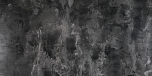 Dark Grunge Gray Wall Texture Background. Long Web Banner.