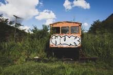 Old Abandoned Railroad Car
