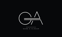GA ,AG ,G ,A  Abstract Letters Logo Monogram