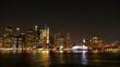 landscape photo of lower Manhattan night time