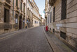 Street view of the history city centre of Vicenza, Italy