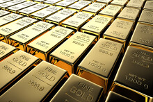 Shiny Bullion Or Gold Bars