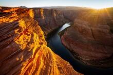 Arizona Horseshoe Bend Of Colorado River In Grand Canyon.