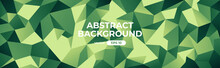 Abstract Polygonal Background. Geometric Triangular Low Poly Graphic. Colorful Green Gradient. Simple Modern Design. Banner, Flyer, Cover Template. Flat Style Vector Eps10 Illustration.