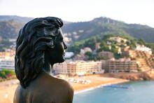 Ava Gardner Statue The Fishing Village Tossa De Mar. Costa Brava. (Catalonia).