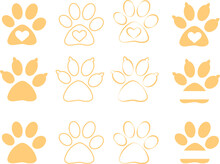 Animal Paw Pattern. Vector Ill...