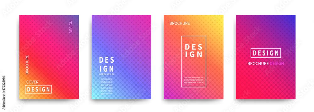 Fototapeta Minimal covers design vector. Halftone dots colorful design