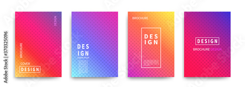 Fototapeta Minimal covers design vector. Halftone dots colorful design obraz