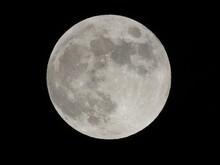 Full Moon Close Up View In Dark Night Full Zoom 2