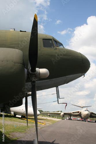 Photo Douglas  Dakota C-47,  Military, transport, aircraft