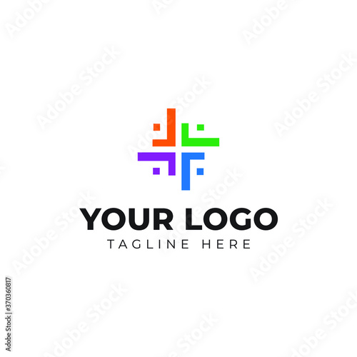 Photo this is a logo that consists of four letter F in circle arrangement forming a sq