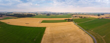 Aerial Panorama View On Celles...