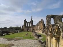 Ruins Of Byland Abbey North Yorkshire Moors National Park England UK