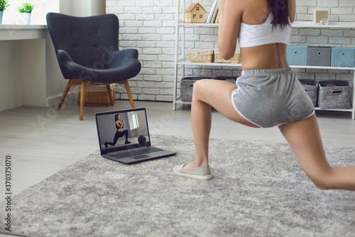 Obraz na plátně Online fitness at home