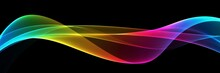 Abstract Colourful Wave On A Black Background