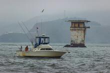 Fishing Oat Near Miles Rocks L...