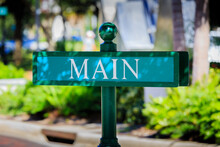 Colorful Main Street Sign In Florida
