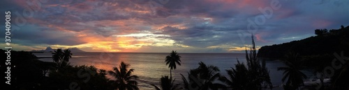 Fotografie, Obraz Tahitian Sunset Panorama