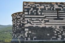 Murs Bicolores De L'église Romane San Michele De Murato Dans Le Nebbio, Corse