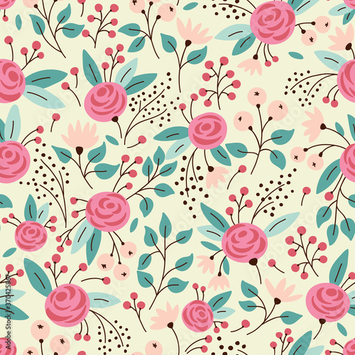 Tapety do Garderoby  elegant-seamless-pattern-with-flowers-vector-illustration