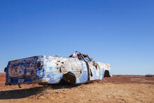 Abandoned Car In The Australia...