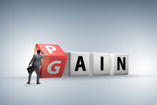 No Pain No Gain Concept With B...