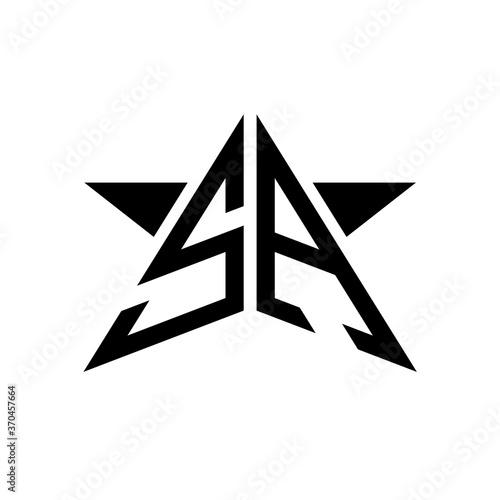 Initial Star Monogram Logo Sa Buy This Stock Vector And Explore Similar Vectors At Adobe Stock Adobe Stock