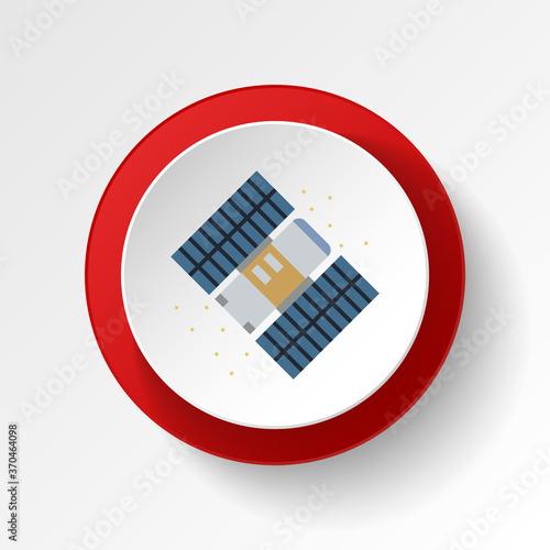 Fototapeta Hubble space telescope colored button icon