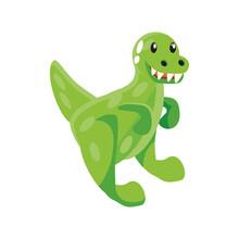Toy Dinosaur, Rubber Animal On White Background