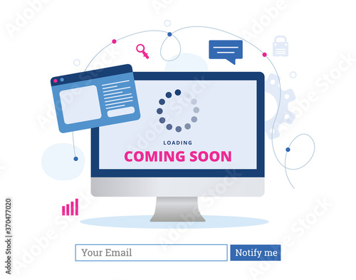 Fotomural Coming soon landing page template