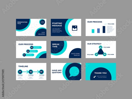 Company Investment Presentation, Pitch deck Vector Template Canvas Print