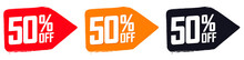 Set Sale 50% Off Banners, Disc...