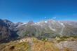 Aussicht auf der Großglockner Hochalpenstrasse, Nationalpark Hohe Tauern, Österreich